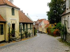 Mariager, Denmark.. love these old looking streets