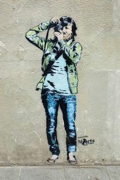 Jana & Js - street art - Paris 13 - passage du moulin des prés