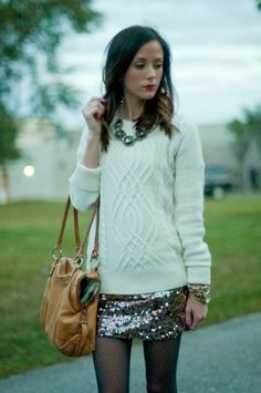 Sequins and Things: sequins and sweaters