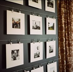 A diferent way to hang family pictures...