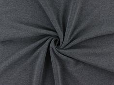 Sweatshirt Melange angeraut, dunkelgrau, 920.421-2007,  bei stoffe-hemmers.de, Hochwertiger Sweatshirtstoff in weichfließender und warmer Qualität,