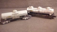 POST WAR LIONEL LINES SUNOCO TANKER CARS X2 BUNDLE #Lionel