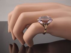 Amethyst Gold Ring in 9k 9ct Gold with Pale by BelmontandBellamy