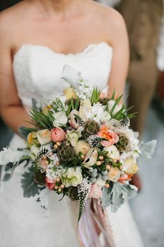 Gorgeous florals! From Style Me Pretty.