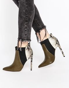 Botines chelsea en punta ENVIOUS OF YOU de ASOS