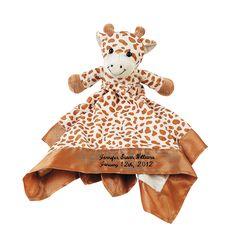 Personalized Plush Giraffe Baby Blanket - OrientalTrading.com
