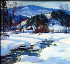 Hibbard, Aldro T. American (1886-1972) Winhall River Valley, Vermont Oil on Board 18 ¼ x 20 1/8 inches Signed Lower Right ca. 1925