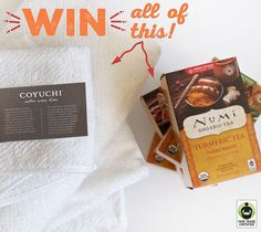 Want to #WIN  the ULTIMATE #FairTrade  Spa Giveaway: @numitea & @Coyuchi towels?! Enter the #giveaway  here: http://fairtrd.us/1Cmnm9c #towels #tea #prize #spa