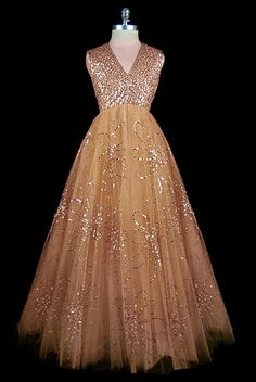 tulle evening dress 1961