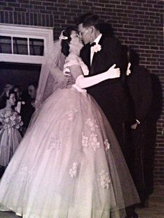 1958 bride and groom.
