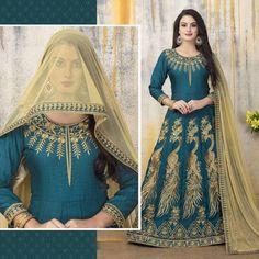 Anarkali Bollywood Indian Party Salwar Kameez Pakistani Embroidered Abaya Dress  #Handmade #SalwarKameez #WeddingPartyWear