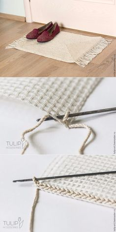 Knitting, weaving, embroidery for at home - # for . Knitting, weaving, embroidery at home – Crochet Diy, Crochet Motifs, Crochet Home, Love Crochet, Crochet Crafts, Yarn Crafts, Crochet Stitches, Crochet Projects, Crochet Carpet