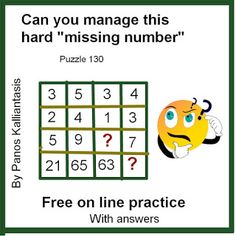 """Brain teasers and puzzles: Can you manage this """"missing number""""puzzle? Missing Number, Number Puzzles, Brain Teasers, Numbers, Canning, This Or That Questions, Words, Collection, Mind Games"""