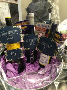 Cute retirement gift basket diy pinterest retirement retirement gift basket solutioingenieria Gallery