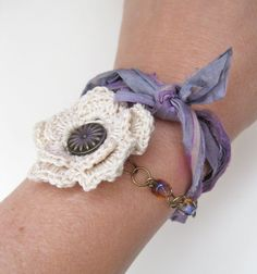 Cottage Blooms Bracelet Collection  by CheekyChickDesigns on Etsy, $22.00