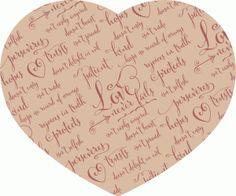 Silhouette Design Store - View Design #73556: love never fails heart – parchment