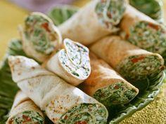 Spinat-Käse-Wraps