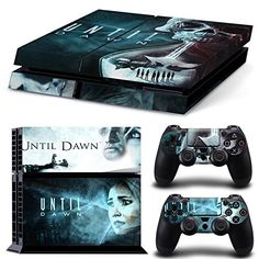 Ambur®Ps4 Console Designer Protective Vinyl Skin Decal Cover for Sony Playstation 4 & Remote Dualshock 4 Wireless Controller Stickers - ps4 skin until dawn