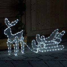 Weihnachtsbeleuchtung Schlitten.Pinterest