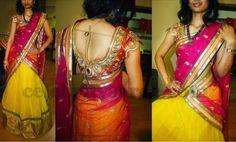 Net Half Sari Glitter Bridal Blouse   Saree Blouse Patterns