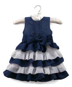 Navy & White Sally Dress- Infant & Toddler - Infant & Toddler #zulily #zulilyfinds