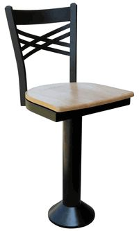 Crossed Back Counter Stool - click image to enlarge