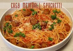 Easy Meatball Spaghetti