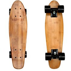 "Hollenbeck 22"" Cruiser Bamboo Skateboards - Gift For Him - Summer -... ($75) ❤ liked on Polyvore featuring fillers, skateboard, skate, misc and other"