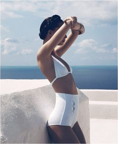 Beautiful white swim suit