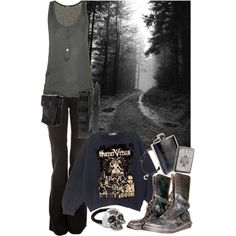 """Out"" by paintedsouldesign on polyvore"