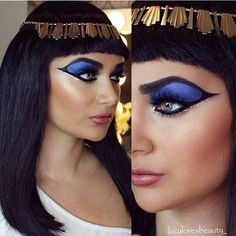 19 Cleopatra Makeup Ideas for Halloween Cleopatra Halloween, Cleopatra Costume, Egyptian Costume, Cleopatra Makeup, Egyptian Makeup, Perfect Makeup, Pretty Makeup, Makeup Looks, Makeup For Brown Eyes