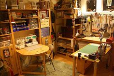 Ikea Ivar is put to good use organizing a craft studio.
