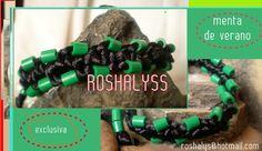 Las Manualidades de Roshalyss: pulsera menta de verano