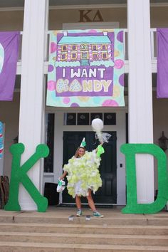 Theming a bus Kappa Delta Sorority, Sorority Sugar, Sorority And Fraternity, Recruitment Themes, Sorority Recruitment, Spring Recruitment, Candy Land Theme, Vintage Sweets, Bid Day Themes