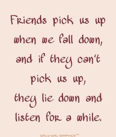 good friends do ...