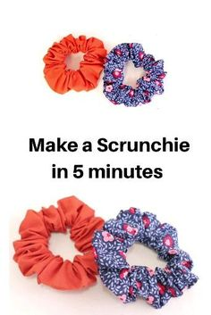 Easy Sewing Projects, Sewing Projects For Beginners, Sewing Hacks, Sewing Tutorials, Sewing Crafts, Sewing Diy, Sewing Blogs, Diy Hair Scrunchies, Diy Hair Bows