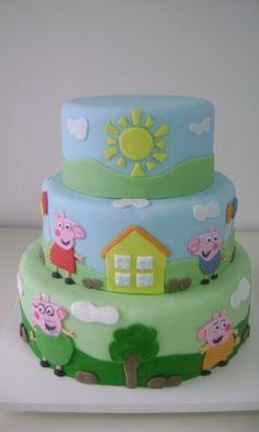 Veja 70 bolos de aniversário decorados com  peppa pig personagens infantis - Gravidez e Filhos - UOL Mulher Bolo Da Peppa Pig, Cumple Peppa Pig, Bolo George Pig, Peppa Pig Images, Aniversario Peppa Pig, Bolo Mickey, Pastel Cakes, Fake Cake, Ballerina Birthday