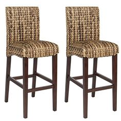 Special Offers - Best Choice Product BCP Set of (2) Hand Woven Seagrass Bar Stools Mahogany Wood Frame Bar Height - In stock & Free Shipping. You can save more money! Check It (July 22 2016 at 01:49AM) >> http://counterstoolsusa.net/best-choice-product-bcp-set-of-2-hand-woven-seagrass-bar-stools-mahogany-wood-frame-bar-height/