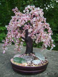 Lilac beaded wire tree - Devionart website