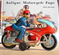 Antique Tin Toy Nomura Honda Race Motorcycle Yonezawa Masudaya Japan Daiya | eBay