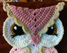 Crochet Big Eyed Owl Potholder Pattern Only por 3ThreadinBettys