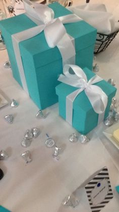 Tiffany and Co. Centerpieces | Bridal Shower