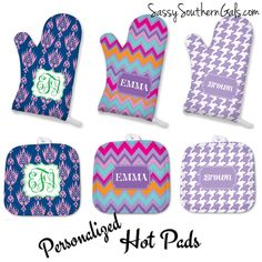 Monogrammed Oven Mitt, Personalized Kitchen Accessories, Monogrammed Pot Holder, Personalized Oven Mitt, Monogrammed Gift, Kitchen Gift by SassySouthernGals on Etsy https://www.etsy.com/listing/258524806/monogrammed-oven-mitt-personalized