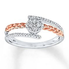 aeb4b5e39e Diamond Ring 1/5 ct tw Round-cut Sterling Silver in 2019 | Products ...