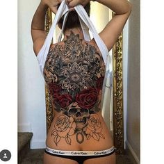 Image result for top back tattoo women