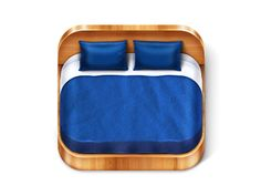 Dribbble - Bed-2 iOS Icon by Todytod