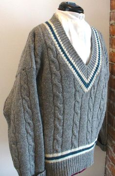Vintage Men's Tennis Sweater Size S by TheOldBagOnline on Etsy