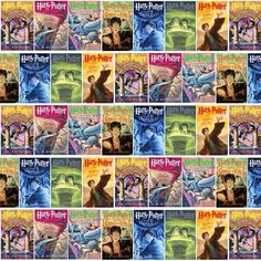 Harry Potter Book Cover Fabric