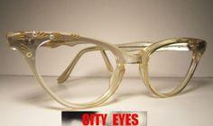 430d7773d3 1950s Pearl (France) CatEyes vintage optical frames eyeglasses eye glasses  sun sunglasses eyewear eye wear cat eye cateye retro 1950s