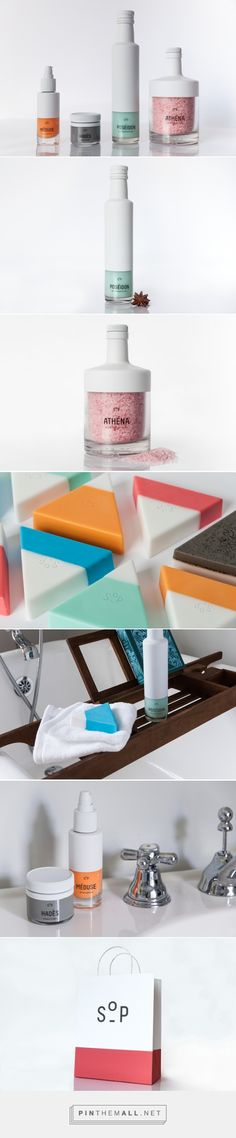 SOP - #Soap Bar #Concept #packaging designed by Krystina Kouros - http://www.packagingoftheworld.com/2015/05/sop-soap-bar-concept.html